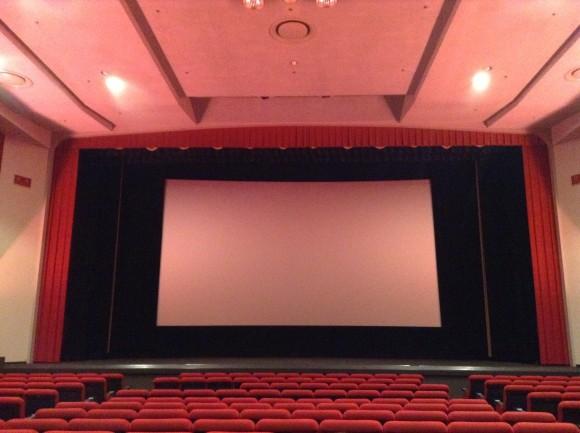 昔ながらの映画館に興奮するいおりん。