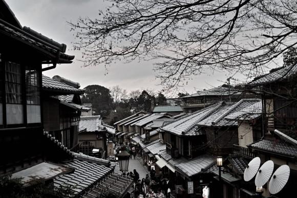 京都は町並みが、整備されつつ景観を保った理想の形。