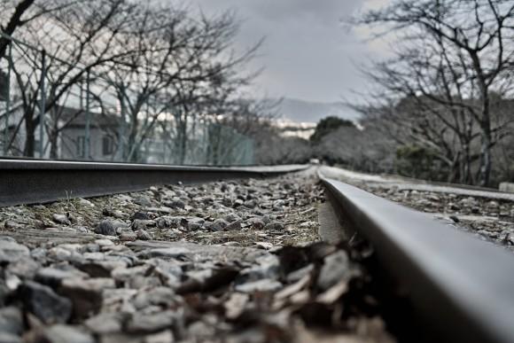 線路恐怖症を乗り越えて撮った写真。