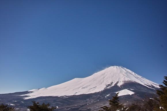荘厳な富士山。天気にも恵まれた。