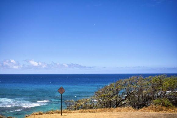 海の青さはハワイがダントツ。空が青いもんな。